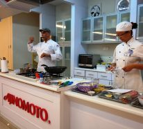 A cooking demo conducted by Chef Karamvir Singh Godrei to demonstrate the exact techniques in culinary preparation based on the given recipes for the competition.