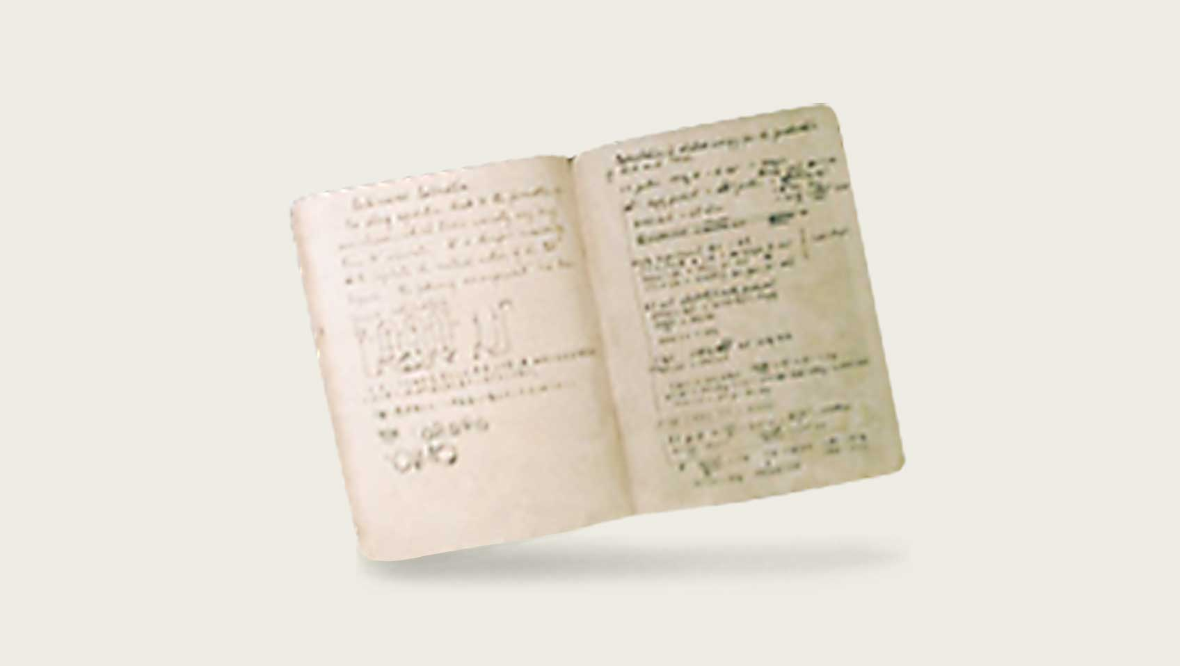 Dr. Ikeda's research notes (1918–1929)