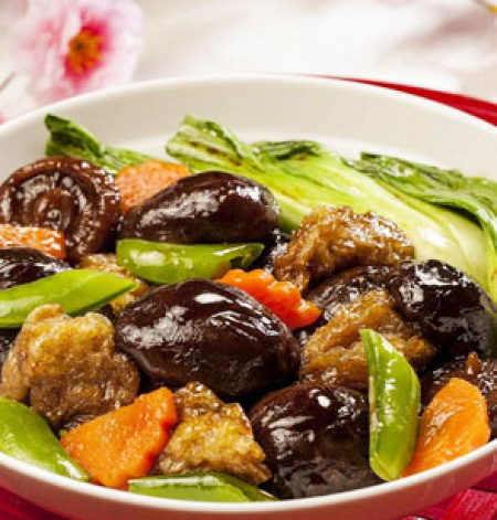 Braised Mushrooms with Gluten