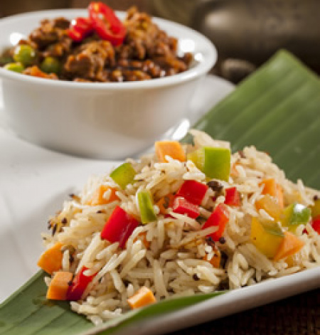 Flavoured Indian Rice with Vegetables